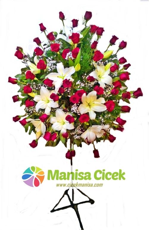 60 Gül ve kazablanka Ferforje,Manisa çiçekçilik