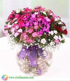 Hüsnüyusuf fanusta Çiçekler,Manisa Çiçek