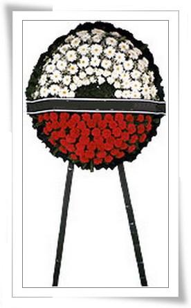 Cenaze Çelengi kýrmýzý beyaz