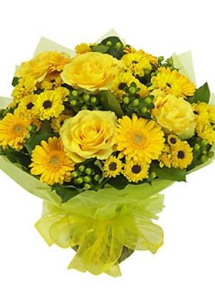 manisa çiçekçi Krizantem ve Gül sýcak sevgi