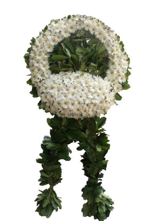 cenaze çelengi beyaz